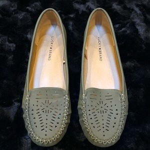 Lucky Brand Olive Green Ajaia Loafers 10